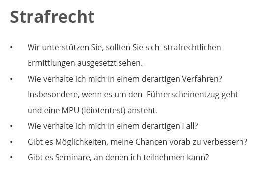Strafrecht für  Mosbach